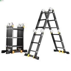 سلم مستقيم 2.5 متر متعددة الوظائف للطي سلم سلم من الألومنيوم المنزل رفع سلم سلم مستقيم الهندسة سلم