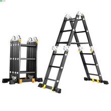 Straight ladder 2.5m multifunction folding ladder aluminum ladder home lifting ladder straight ladder engineering ladder