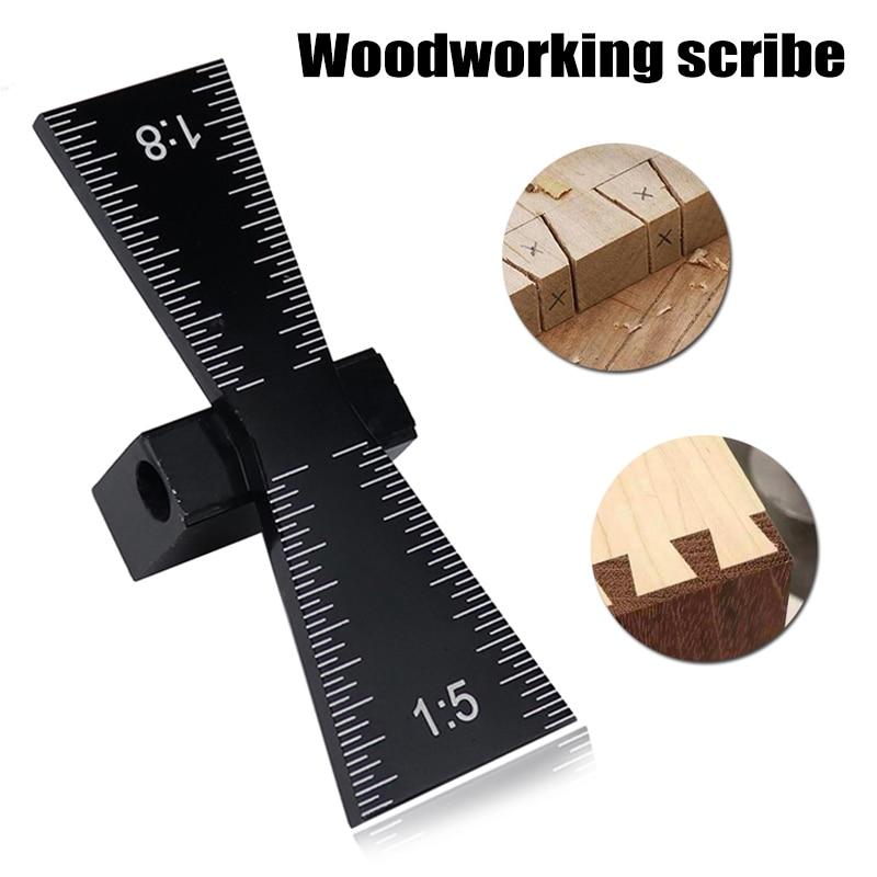 Dovetail Jig Guide Marker Aluminum Alloy Scriber Wood Joints Gauge Woodworking Tool MU8669