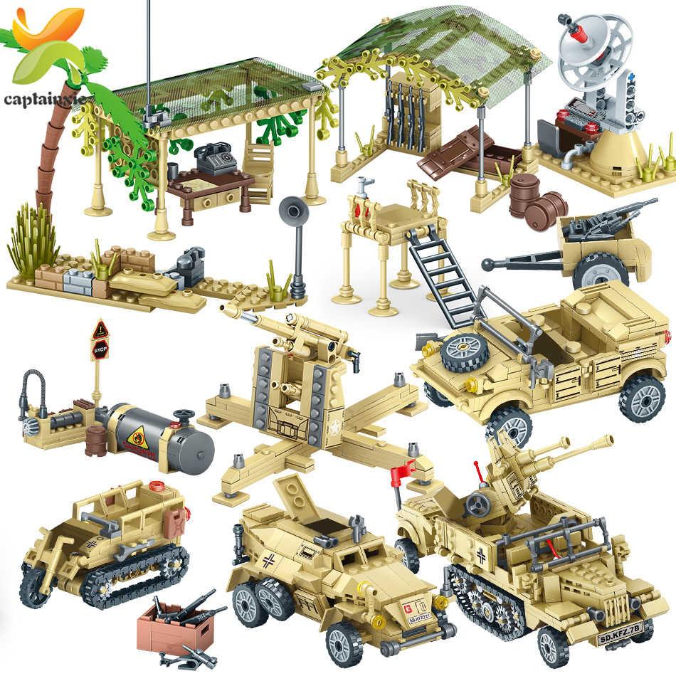 4 EM 1 WW2 Soldados Do Exército da Segunda Guerra Mundial Soviética Figuras Arma Veículos Militar Building Block Set Legoingly Tijolos Da Cidade brinquedos