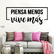 Spanish Inspirational Positive phrase Quotes Vinyl Wall Sticker Life Dreams Art Decals For Spanish Home Decoration Murals RU157(China)