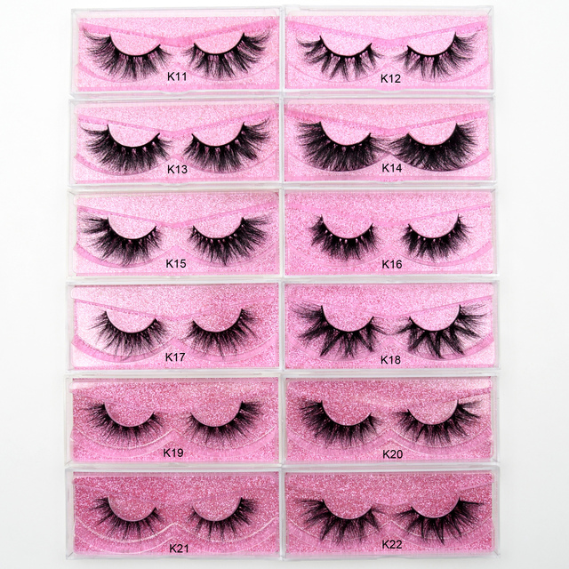 Visofree Mink Eyelashes 3D Mink Hair False Eyelashes Natural Thick Long Eye Lashes Fluffy Makeup Beauty Extension Tools K11 5