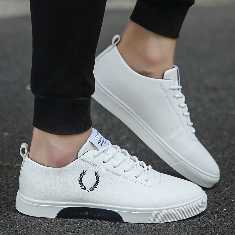 2019 New Comfortable Classic Skateboard Shoes Wear High-top Men's Shoes Small White Shoes Breathable Sneakers Men