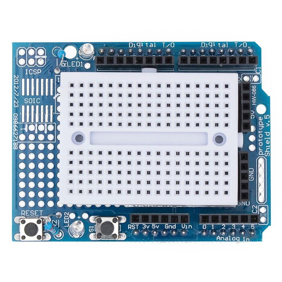 Smart Electronics UNO Proto Shield prototype expansion board with SYB-170 mini breadboard based For UNO ProtoShield DIY