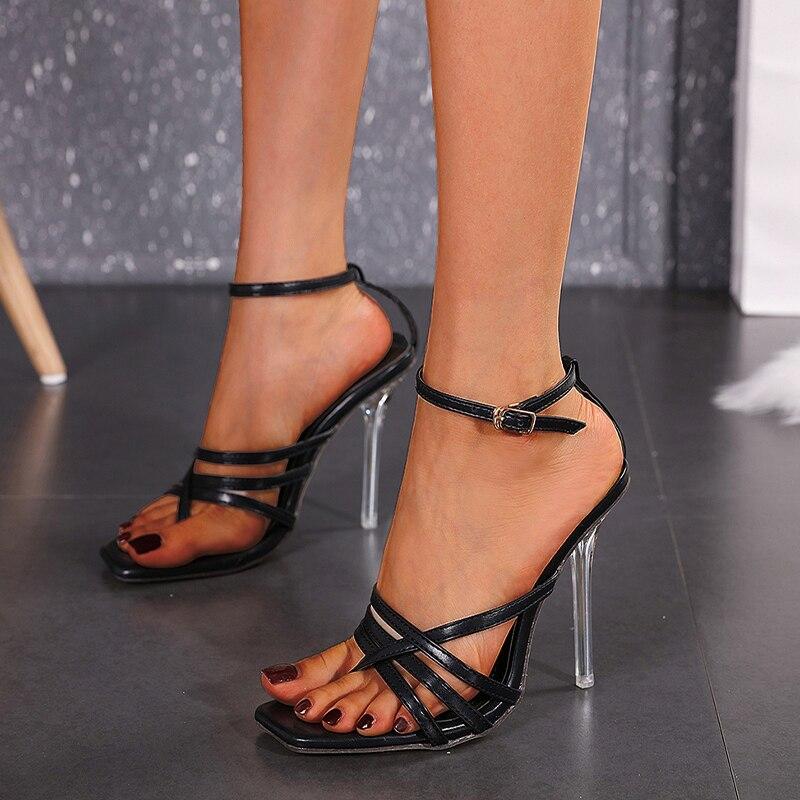 Women Slingback Sandals 2020 Roman High Heel Ankle Strap Women