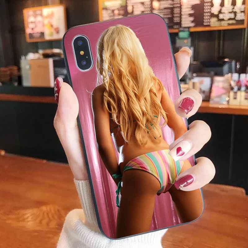Seksi Pakaian Dalam Bikini untuk Wanita gadis Lembut Silicone Ponsel Case PENUTUP UNTUK iPhone 11 Pro XS MAX 8 7 6 6S Plus X 5 5S SE XR Case