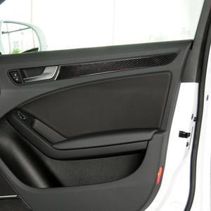 Pegatina de Panel de puerta de fibra de carbono Interior de coche pegatina de cubierta embellecedora y Calcomanía para Audi A4 B8 2009-2016 A5 2008-2017 Q5 2009-2017