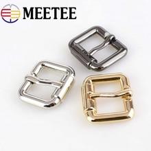 Meetee 4pcs 20/25/32/38MM Pin Belt Buckle Metal Handbags Bags Hardware Strap Adjust Hook DIY Sew Crafts Accessories F3-22