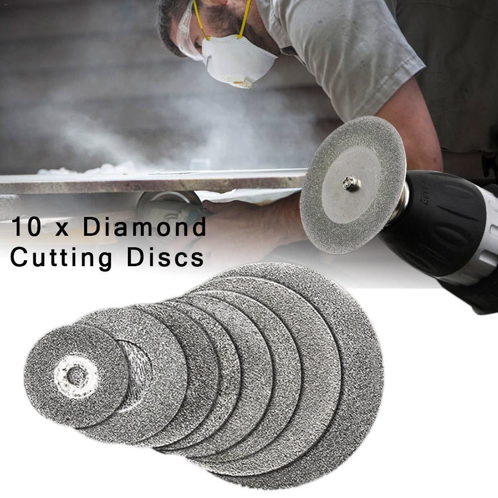 10 Pcs Diamond Cutting Wheels Dremel Rotary Tool Die Grinder Metal Cut Off Disc
