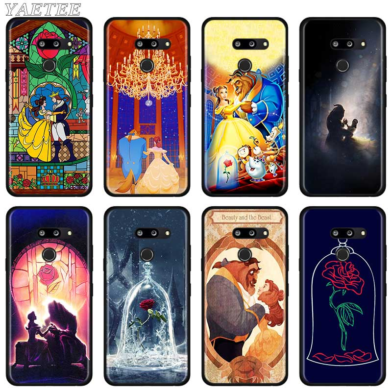 Beauty And The Beast Anime Black Silicone Case For LG G6 G7 G8 Thinq Q51 Q60 Q61 Q70 K40 K51s K61 TPU Soft Cover