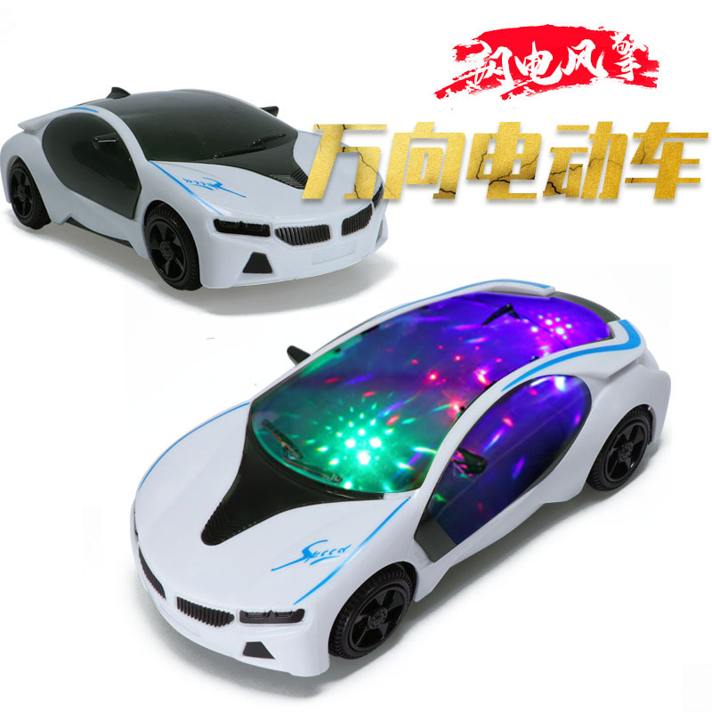 3D Light And Music Electric Universal Car Shining Electric Toys Stall Hot Selling Gift