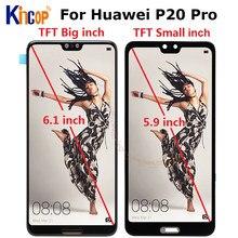 Tft digitalizador touchscreen para huawei, tela de reposição para huawei p20 pro p20 plus CLT-AL01 CLT-L29 e 6.1
