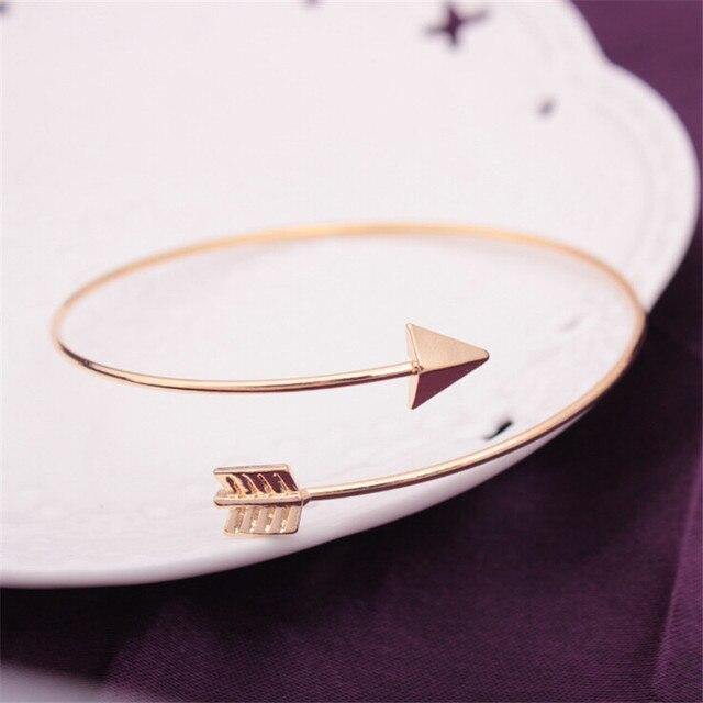 1 pçs vender ajustável seta manguito pulseiras para as mulheres moda simples gótico pulso pena pulseiras presente jóias atacado