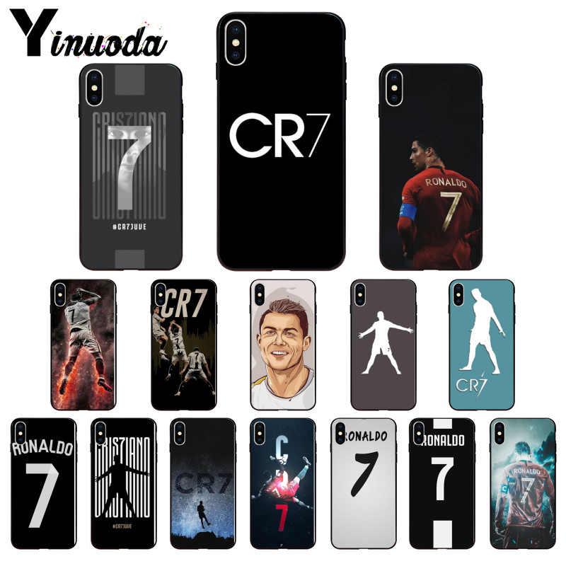 Logo Yinuoda CR7 cristiano ronaldo 7 etui piłkarskie na Apple iPhone 8 7 6 6S Plus X XS MAX 5 5S SE XR 11pro max etui na telefony komórkowe