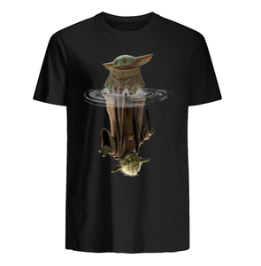 Детская йода воды отражение Мужская футболка