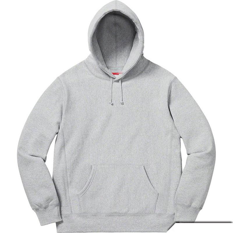 #8889 Embroidered Label Box Logo Fleece Hoodie For Women Men Fashion Sweatshirts