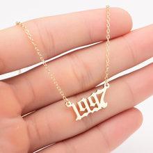 Collar personalizado con número de año, joyería, fecha especial, 1980, 1981, 1982, 1997, 1998, 2019, de 1980 a 2002