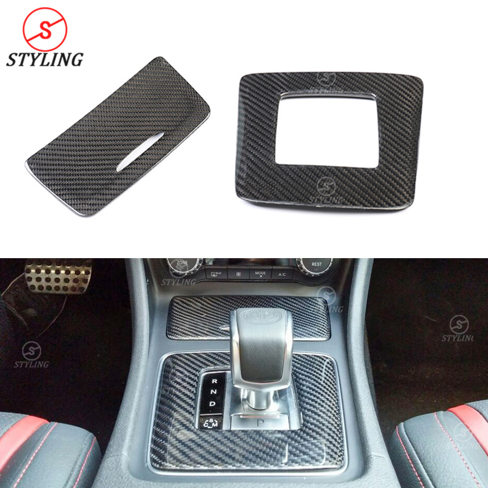 CLA45 AMG interior Trim For Mercedes benz AMG A45 GLA45 Carbon Fiber Gear Surround Compartment Base