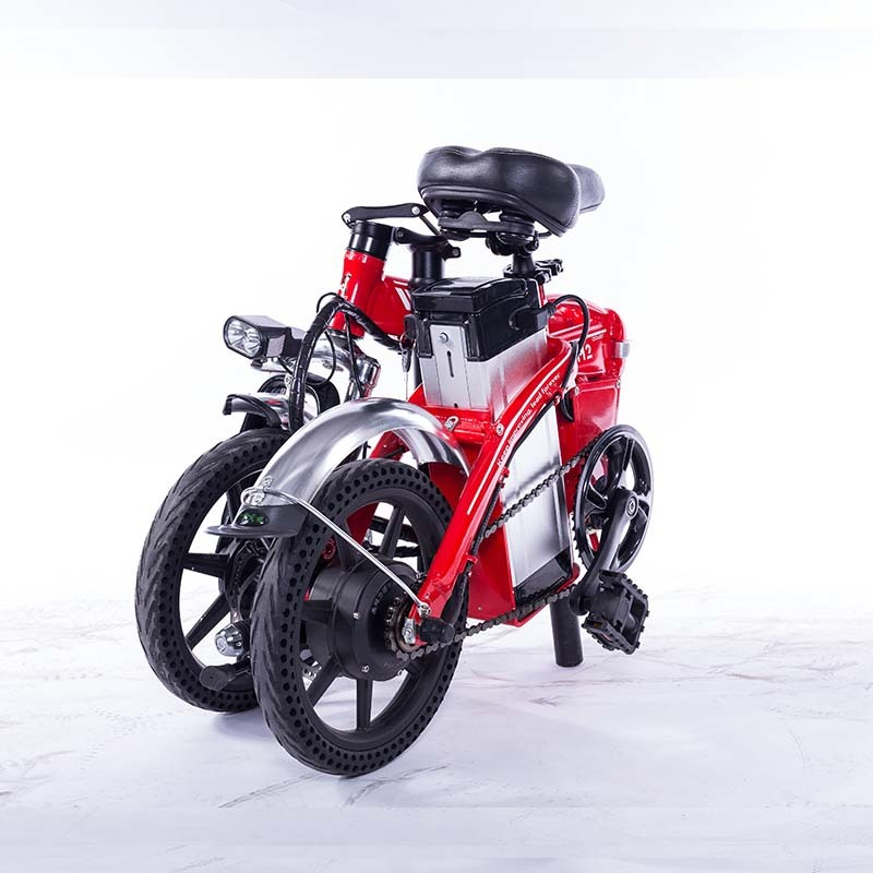 M2 Folding Electric Bicycle 48V Lightweight E-Bike Mini Electric Bike Aluminum Alloy Frame Foldable Ebike with Removable Battery 3