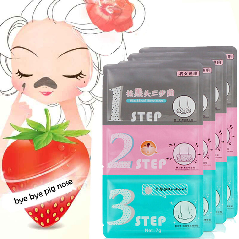Hot Sale New 1Pcs Pig Nose Mask Remove Blackhead Acne Remover Clear Black Head 3 Step Kit Beauty Clean Face Care Korean Cosmetic