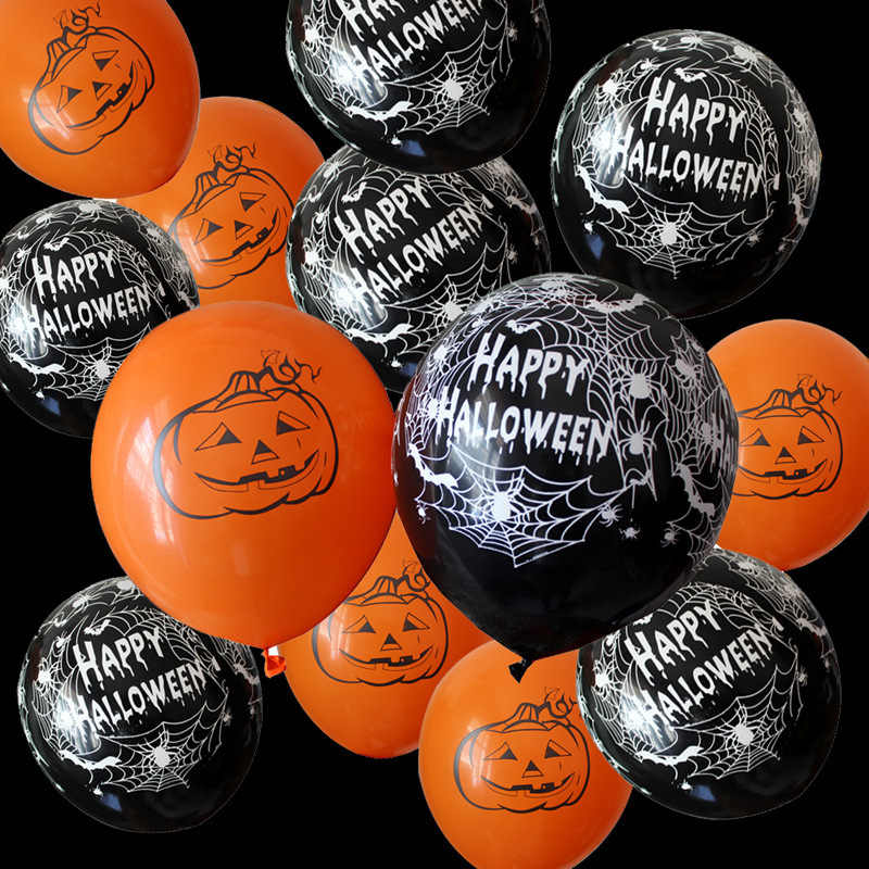 10pcs 12 Polegada Teia de aranha Abóbora Decoração de Halloween Horror Látex Balões de Hélio Ar Bola Toy Kids Birthday Party Decor hot