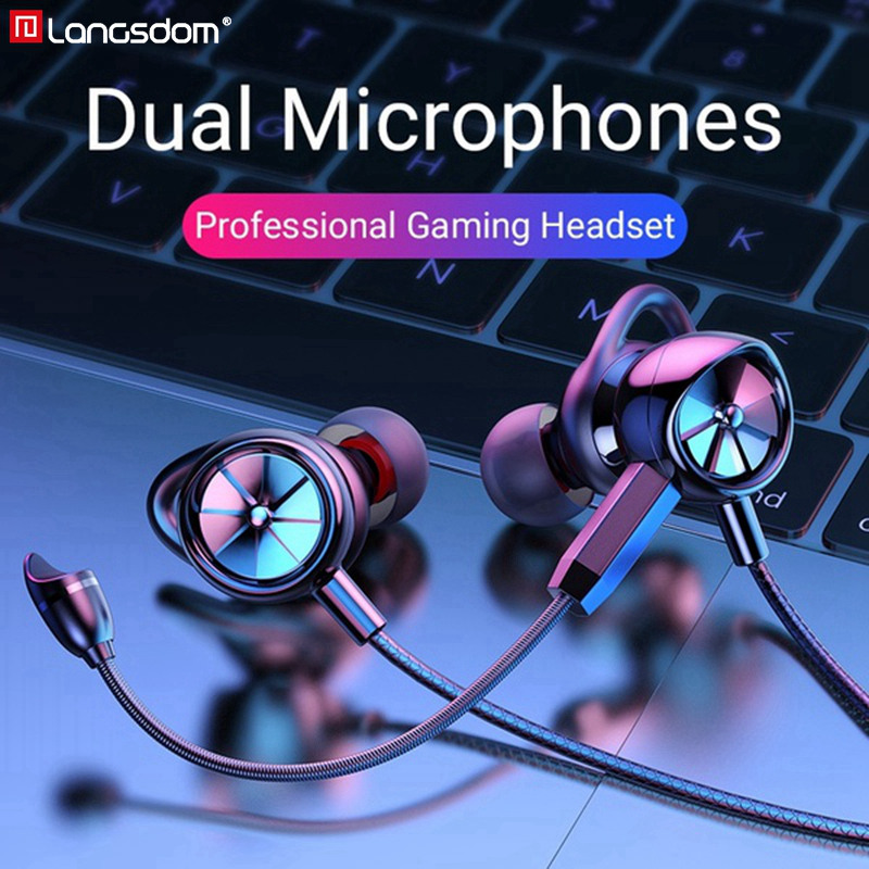 Langsdom PS4 Gaming Headset Gamer with Dual Microphone Noise Cancelling PUBG Gaming Earphones fone de ouvido For Phone PS4 Xbox