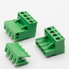 10 sets ht5.08 4pin Right angle Terminal plug type 300V 10A 5.08mm pitch connector pcb screw terminal block