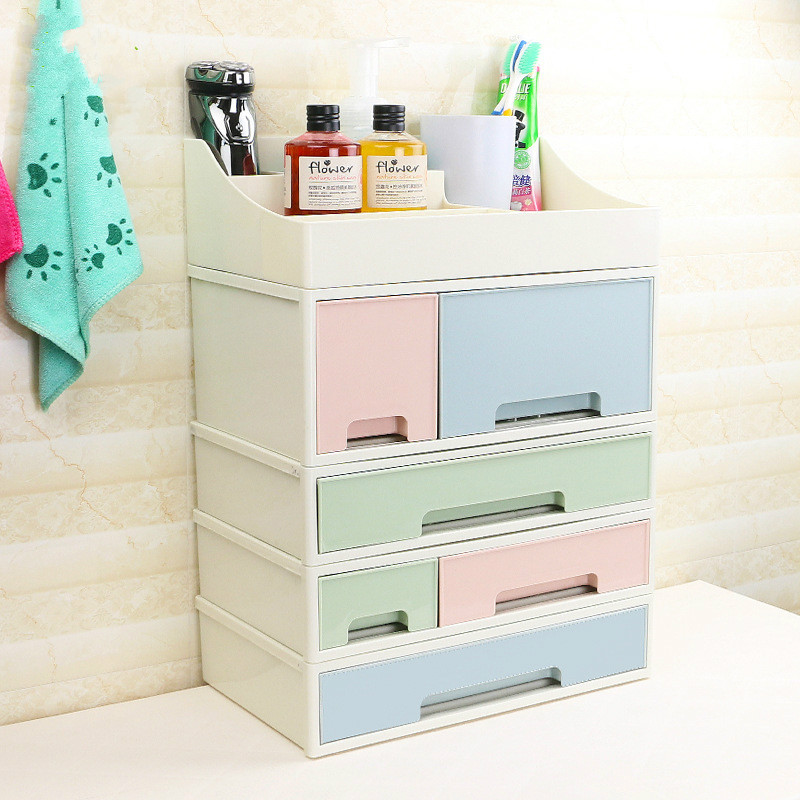Desktop Jewelry Storage Box <font><b>Acrylic</b></font> Plastic Cosmetic Storage Box <font><b>Drawer</b></font> Storage Box Makeup <font><b>Organizer</b></font> Sundries Container image