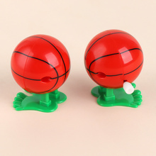 1 pc Lovely Mini Jumping Basketball Shape Plastic Wind Up Toys For Kids Daily Gifts