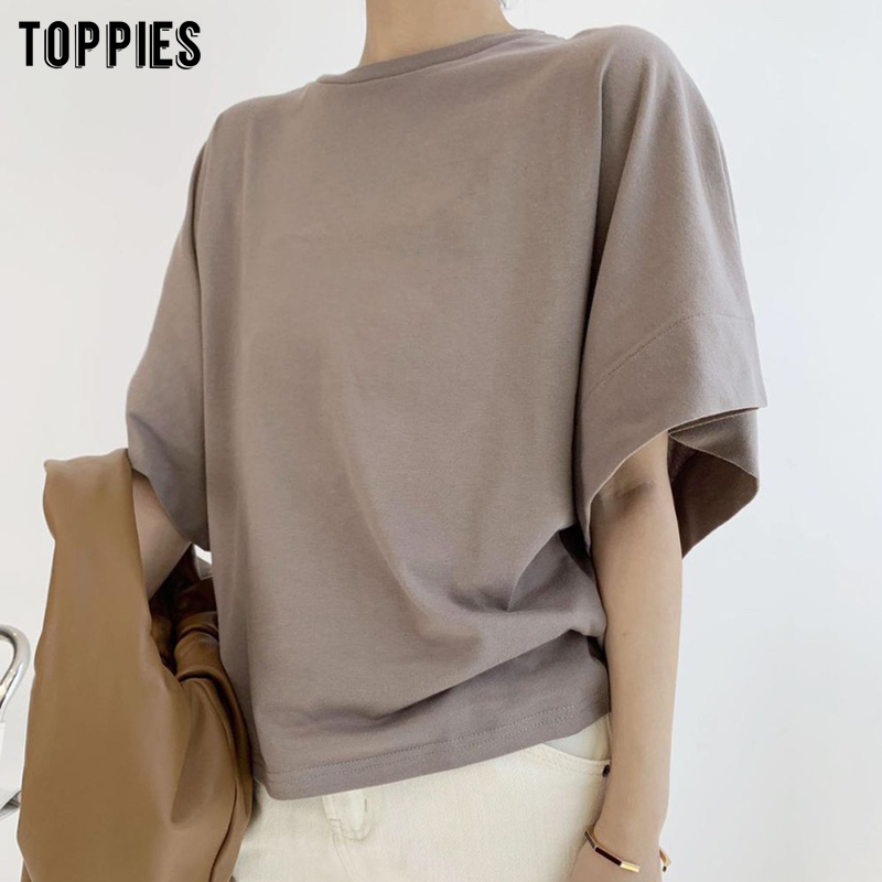 Toppies 2020 Harajuku T-shirts Batwing Sleeve Tops  Summer Women Tops Korean Fashion Girls Tees