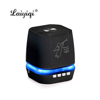Laiyiqi new popular dazzle LED light Bluetooth wireless speaker FM Radio Handsfree call Amplifier caixa de som portatil tw dia
