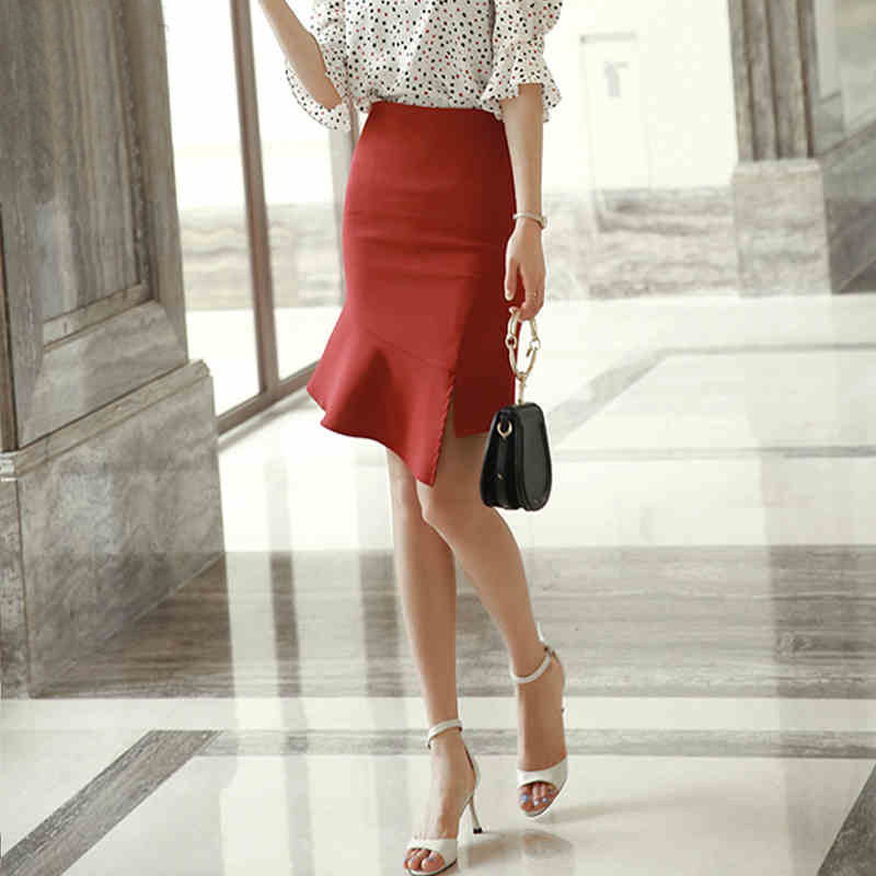 Skirt 2019 Summer Wear New Style Debutante Elegant High-waisted Slimming Flounced Skirt Base Skirt