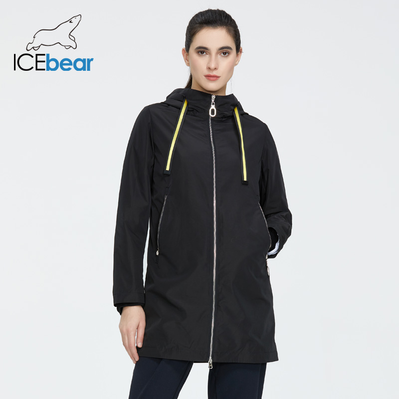 ICEbear 2020 Women's Spring Windbreaker Quality Women's Windbreaker Fashion Women Jacket Women Brand Clothing GWF20167I