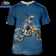 Мужская футболка sonspe 2020 летняя с 3d принтом для мотокросса