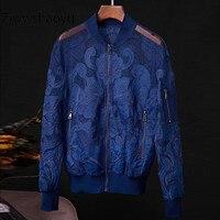 Ziwwshaoyu fashion Spring Summer Mesh Flocking Embroidery Applique Short Jackets Coat Women's High Quality Clothing