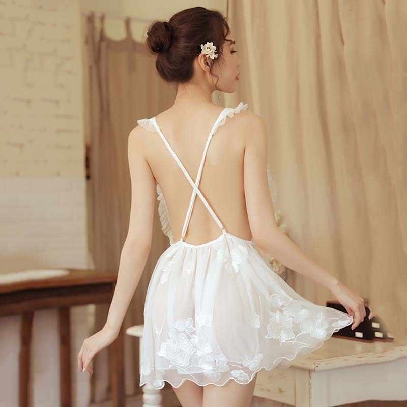 Женское сексуальное нижнее белье Ночная сорочка ночная рубашка кружевное лоскутное Ночное платье женские ночнушки платье домашняя одежда