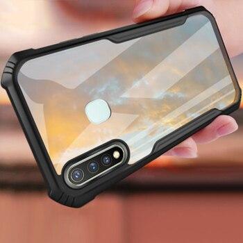 Перейти на Алиэкспресс и купить Противоударный чехол для телефона Vivo Y19 Y5s, прозрачная задняя крышка, ультра тонкий чехол для Vivo u20 U3 Z5i airbag, чехол для мобильного телефона s Coque