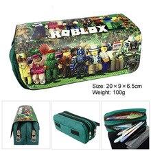 Pen box multi-function school pencil bag large-capacity canvas pen case cute supplies gift