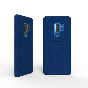 Image 5 - Новинка 100%, Оригинальный чехол из натуральной кожи для Samsung Galaxy S9, S9 plus, S9 +, алькантара, Роскошный чехол премиум класса, искусственная кожа