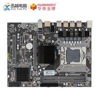 HUANAN ZHI X58 RX3.0 V110 Motherboard X58 For Intel LGA 1366 X5650 X5675 DDR3 1066/1333MHz 16GB PCI E SATA2.0 USB3.0 M ATX
