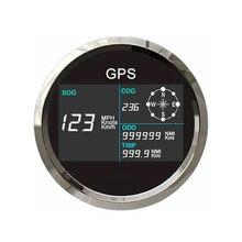 Универсальный 85 мм Цифровой GPS Спидометр с ЖК-дисплей 7 цветов Подсветка Регулируемый пройденное расстояние в милях туда и обратно счетчик п...