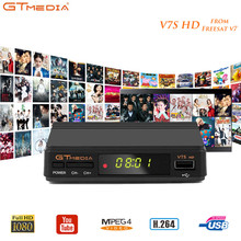 GTMEDIA Freesat V7S HD H.264 MPEG4/2 DVB-S2 Satellite Receiver Support Youtube PVR 1 Year 7 line Ccaam For Spain DVB S2 TV Box