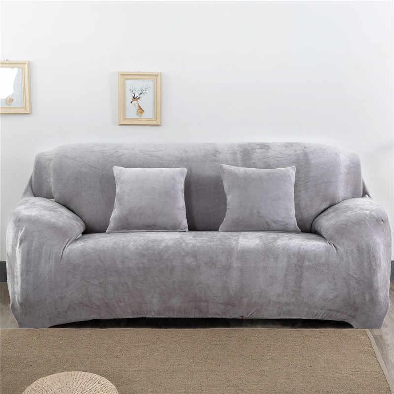 Plush Sofa Penutup Tebal Sarung Sofa Penutup untuk Ruang Tamu Universal All-Inclusive Sofa Cover 1/2/3/4 Keluarga Di
