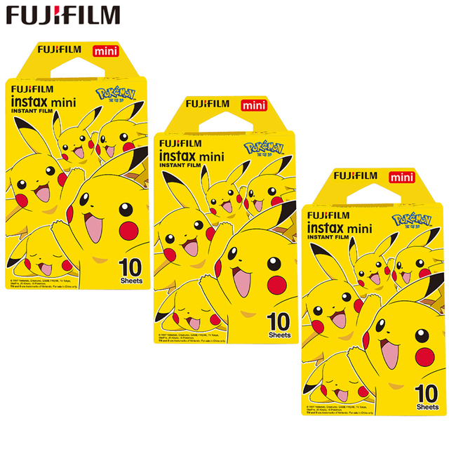 Fujifilm Instax Mini Film Instax Mini 8 / 9 Pokemon Pikachu Film For Fuji Mini 7s 25s 26 70 90 Instant Camera Share SP 1 SP 2