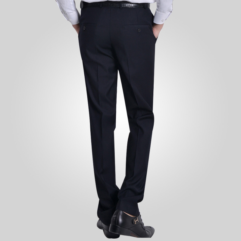 Size 29-40 Easy Care Workwear Grey Pants Business Pants For Men Slim Fit Formal Trousers Mens Suit Pants Wedding Party Pants