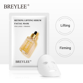 BREYLEE Retinol Face Sheet Mask Serum Moisturizing Anti-Aging Skin Care Fade Fine Lines Wrinkles Facial Mask Lifting Firming 1pc 1