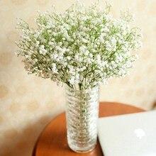 10 pçs gypsophila flor floral falso seda festa de casamento buquê decoração para casa flores artificiais diy buquês florais de plástico