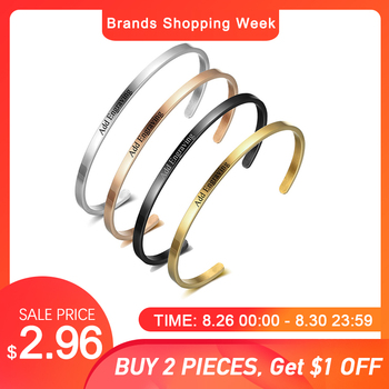 Personalised Gifts ID Bangles for Lovers' Engrave Name Stainless Steel Bracelets