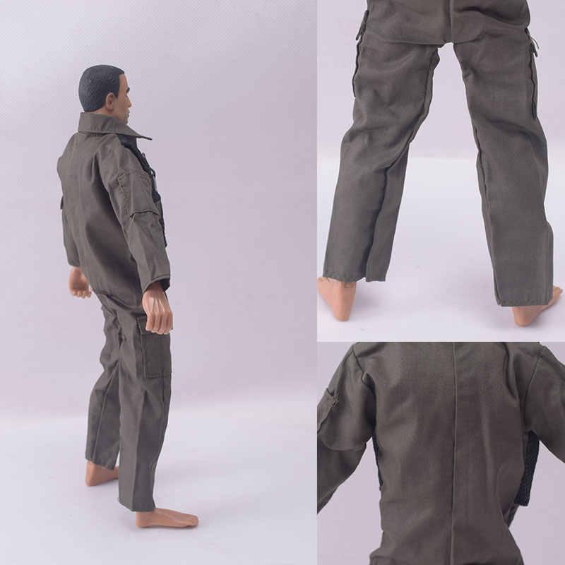 "Accesorio de ropa militar a escala 1/6 F14/F15, uniforme verde militar, mono, mono, figura de piloto, apto para cabeza de 12"""
