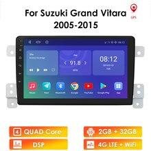Rádio do carro de android 10 para suzuki grand vitara 2005-2015 escudo rádio áudio gps multimídia player 2din 2.5d jogador de tela bt wifi